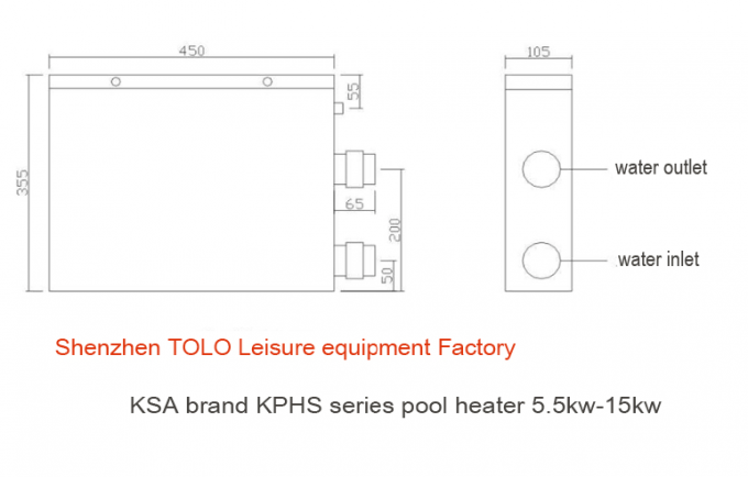 Above Ground Electric Swimming Pool Heater