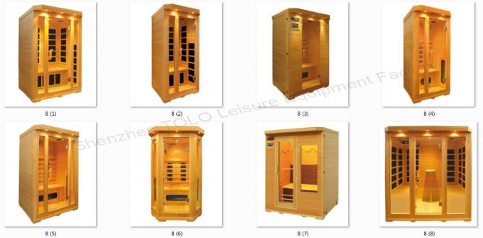 Bench Carbon Fiber Far Infrared Sauna Cabin , Electric 4 Person Sauna For Outdoor