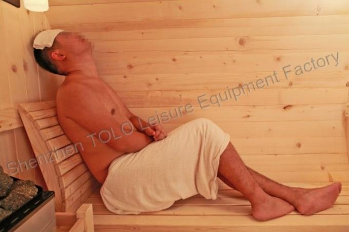 Cedar Electronic Outdoor Steam Shower Cabins For Dry Sauna , 1800*2400mm
