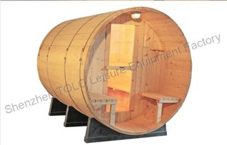 China Home Steam Bath Cabin , Weather Resistant Cradles Barrel Steam Sauna supplier