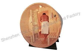 China Europe Barrel Steam Sauna Cabins , Dry Heat Wood Sauna Room supplier