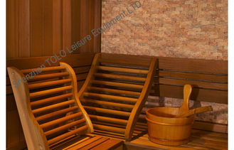 China Traditional Electronic Sauna Cabins Square Cedar For Home / Garden supplier