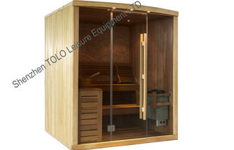 China Cedar / Hemlock Dry Heat Sauna Cabins For 1 Person / 2 Person supplier