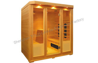 China Dry Sauna Far Infrared Sauna Cabin , Cedar And Full Spectrum For 1 Person / 2 Person supplier