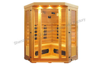 China Bench Carbon Fiber Far Infrared Sauna Cabin , Electric 4 Person Sauna For Outdoor supplier