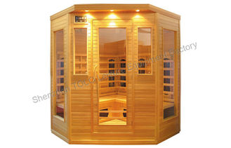 China Bench carbon fiber sauna cabin , home / outside for 4 person supplier