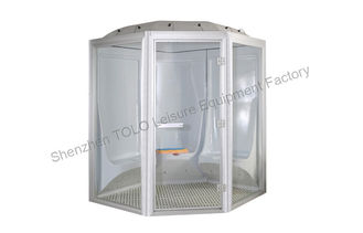 China Brushed Modular Steam Shower Cabin , 2 Person Outdoor Home Sauna supplier