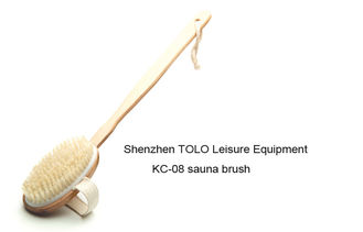 China Sauna room Brushes wooden handle / wood scoop Durable For the Body supplier