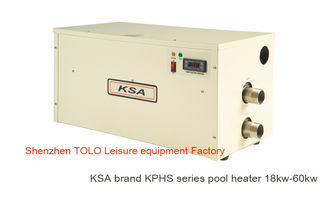 China Freestanding Electric Swimming Pool Heater , energy saving 380V 40kw Spa Heaters supplier
