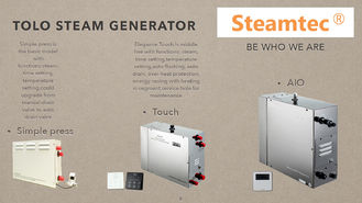 China 15kw 400V Stainless Steel Sauna Steam Generator With Electronic Thermostat supplier