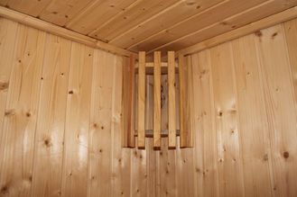 China Home / Garden Traditional Sauna Cabins , Square Cedar Sauna Rooms supplier