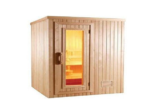 China Customized Traditional Sauna Cabins , Commercial Square Cedar Sauna supplier