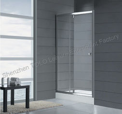 China Rotating Shower Screen Glass Enclosed Showers , Sliding Square Single Hinge Door supplier