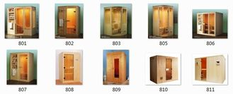 China White Pine Sauna Cabins Traditional Dry Steam For Home / Garden supplier