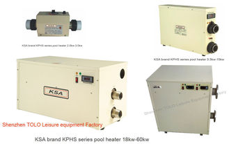 China Heat Pump Electric Spa Heaters , 40kw Freestanding Pool Water Heater supplier