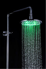 China Bathroom Rain Showers Heads Led Lighted Stainless Steel Φ200 x 9mm supplier