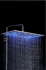 China LED Color Changing Rain Showers Heads Stainless Steel For Steam Room supplier