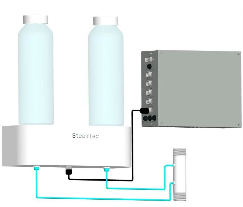 Aroma Pump Suit for Residential Steam Generators with 2 Bottles