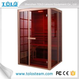 China Solid Wood Steam Bath Cabin , Electric Traditional Sauna Room For Dry Sauna distributor