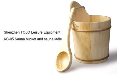 Wooden Durable Sauna Accessories light weight , handcraft bucket